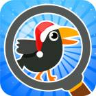 Find The Crow Winter HD - hidden objects game for smart and attentive