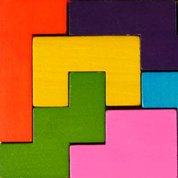Katamino - challenging Tetris like wooden puzzle ste