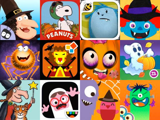 best halloween apps for kids for iPad and iPhone
